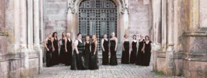 women's choir at Highcliffe Castle, Dorset
